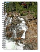 Streaming Glen Alpine Falls Spiral Notebook
