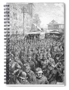 Street Car Strike, 1886 Spiral Notebook
