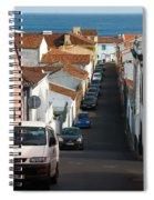 Street In Lagoa - Azores Spiral Notebook