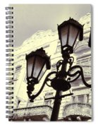 Street Lamps Of Budapest Hungary Spiral Notebook