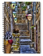 Street Lane In Dubrovnik Croatia Spiral Notebook