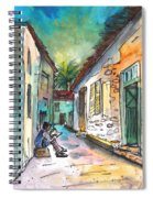 Street Life In Nicosia Spiral Notebook