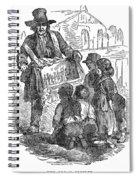 Street Musician, 1850 Spiral Notebook