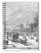 Street Railway, 1853 Spiral Notebook
