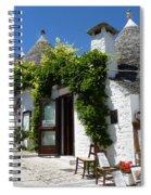 Street Scene In Alberobello Spiral Notebook