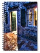 Street Scene In Ancient Kotor Montenegro Spiral Notebook