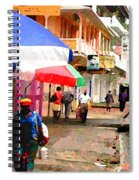 Street Scene In Rosea Dominica Filtered Spiral Notebook