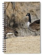 Stretching The Leg Spiral Notebook