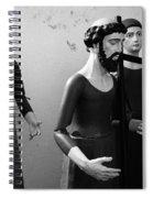 Stripped Saints Spiral Notebook