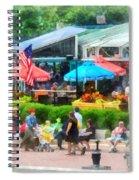 Strolling Around Inner Harbor Baltimore Spiral Notebook