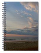 Strolling At Sunrise On The Shore Of Maine Spiral Notebook
