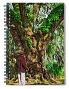 Strolling With Giants Painted Spiral Notebook