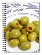 Stuffed Green Olives Spiral Notebook