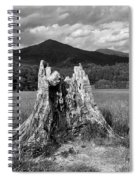 Stump In A Field Spiral Notebook