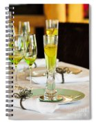 Stylish Dining Table Arrangement Spiral Notebook