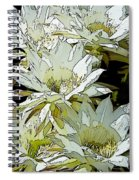 Stylized Cactus Flowers Spiral Notebook