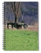 Subsoiler On The Farm  Spiral Notebook