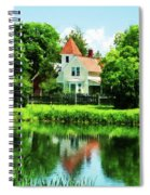 Suburban House With Reflection Spiral Notebook