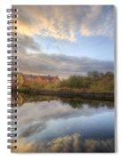Suburban Sunrise Reflection  Spiral Notebook