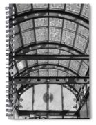 Subway Glass Station In Black And White Spiral Notebook