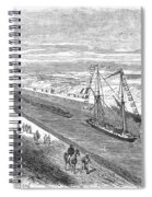 Suez Canal, 1868 Spiral Notebook