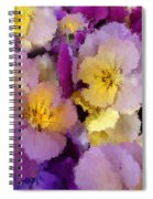 Sugared Pansies Spiral Notebook