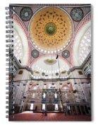 Suleymaniye Mosque Interior Spiral Notebook
