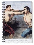 Sullivan & Kilrain Fight Spiral Notebook