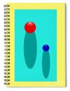 Summer Balls Red And Blue Spiral Notebook