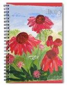 Summer Coneflowers Spiral Notebook