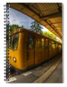 Summer Eveing Train. Spiral Notebook