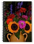 Summer Flower Bouquet Spiral Notebook