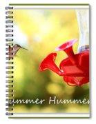 Summer Hummer Poster Spiral Notebook