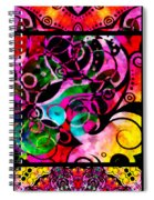 Summer Introspection Of An Extrovert Triptych Vertical Spiral Notebook
