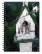 Summer Night With Birdhouse Spiral Notebook