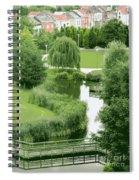 Summer Park In Belgium Spiral Notebook