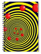Summer Red Balls With Yellow Spiral Spiral Notebook