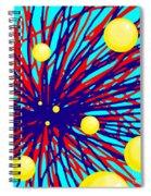 Summer Splat With Yellow Balls Spiral Notebook