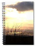 Sun Behind The Clouds On The Beach Spiral Notebook