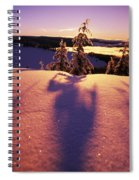 Sun Casting Shadows On Snow Covered Spiral Notebook