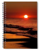 Sun Emerging From The Water Spiral Notebook