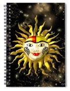 Sun Face  Spiral Notebook