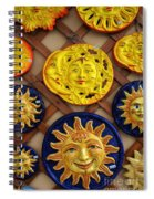 Sun Faces On The Island Of Capri Italy Spiral Notebook