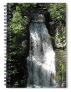Sun On The Bushkill Falls  Spiral Notebook
