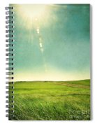 Sun Over Field Spiral Notebook