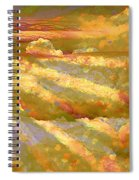 Sun Peeking Through Clouds Spiral Notebook