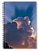 Sun Rays And Clouds Spiral Notebook
