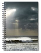 Sun Rays On Ocean Spiral Notebook
