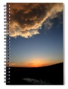 Sun Setting Behind The Horizon In Saskatchewan Spiral Notebook