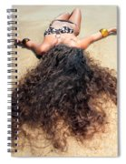 Sunbathing Woman Spiral Notebook